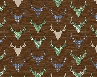 Riley Blake Great Outdoors Deer/Brown/Cotton/Fabric/Sewing/Quilting