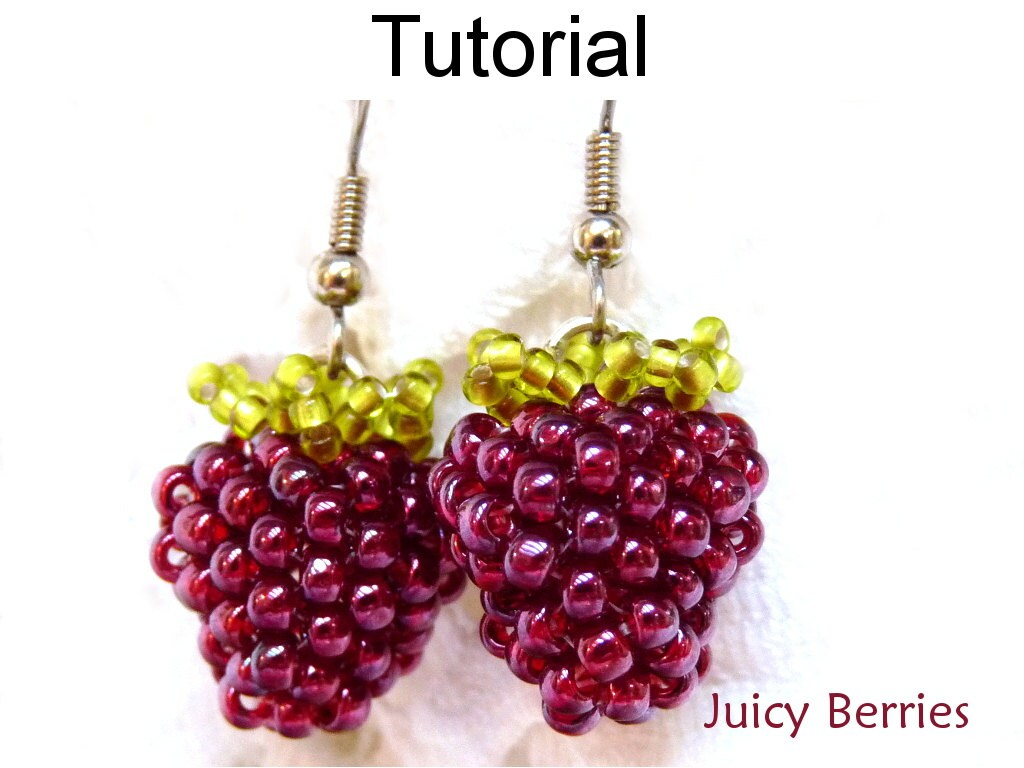Beading tutorials and patterns beaded earrings jewelry making beading tutorials and patterns beaded earrings jewelry making blackberries raspberries seed beads juicy berries 1408 baditri Image collections