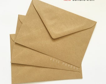 "5x7""/A7 Invitation Envelopes in Buffalo Kraft 130mmX185mm Made in Australia"