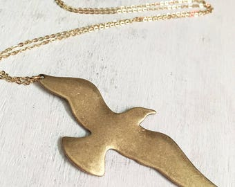 Fly Free Seagull Nature Necklace