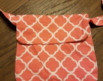 Pink mini messenger bag