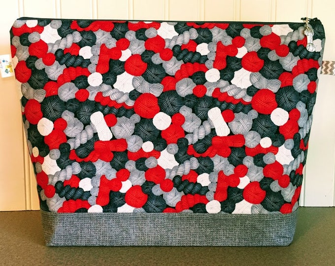 Featured listing image: Yarn Ball Knitting Project Bag - Large / Sweater Size