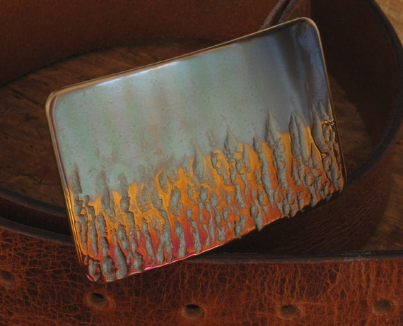 Firefighter's Belt Buckle ~  First Responder ~ Gifts for Him ~ Signed Original ~ Boyfriend Gift ~ Gift for Firefighter ~ Jeans or Workwear