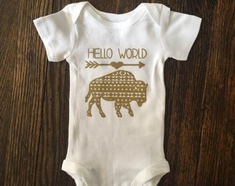 Hello World Buffalo Bodysuit