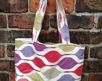 Spring colours tote bag, book bag, shoe bag,