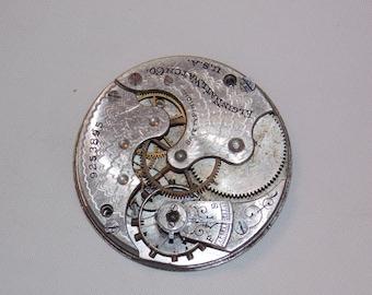 Antique 35mm Etched Pocket Watch Movement