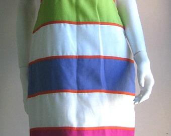 80s vintage  mod  colorblock dress
