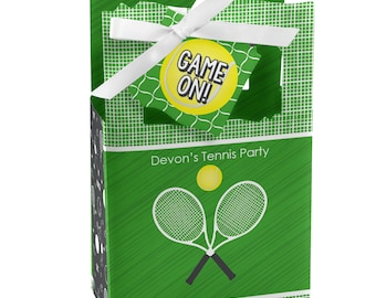 You Got Served - Tennis - Favor Boxes - Custom Tennis Ball Birthday Party and Baby Shower Supplies - Sports Party Theme Favor Boxes - 12 Ct
