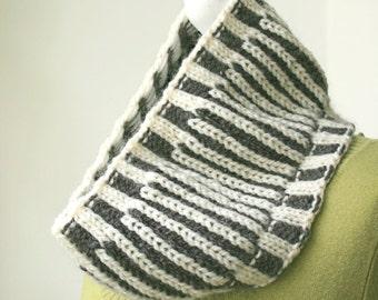 Cowl Knitting Pattern - Fishermans Rib Cowl - PDF Neckwarmer Knit Pattern
