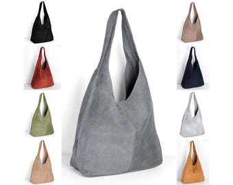 Leather bag handbag shopper by ImiLoa grey, brown, red, black, darkblue, handbags shoulder bags