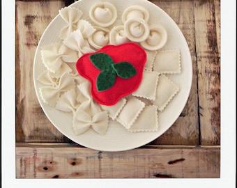pasta italiana felt play food, montessori toys