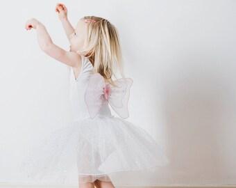 Fairy Dress | Fairy Costume | Princess Dress | Party Dress | Girls Dress - White Fairy Dress with Wings