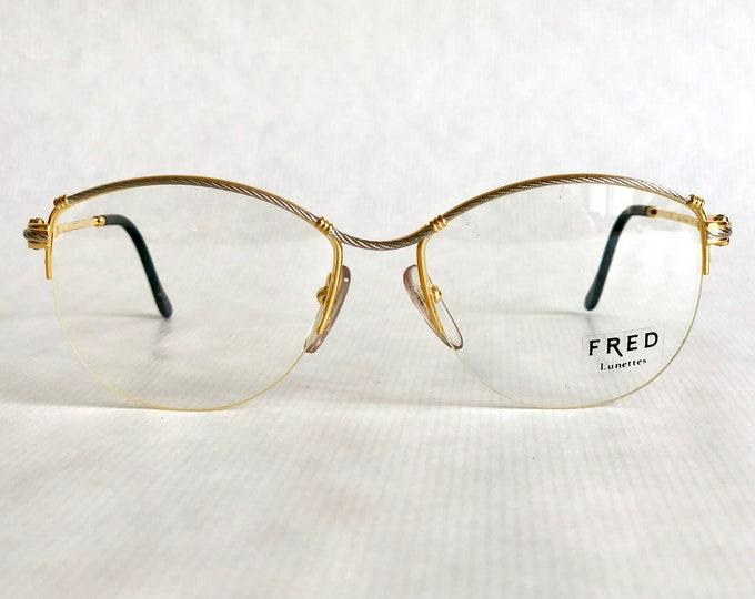 Fred Force 10 Bermude 22Kt Gold Vintage Eyeglasses Made in France including Case