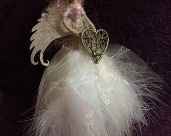 Christmas fairy ornament or gift handcrafted