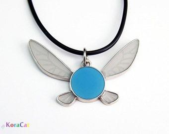 Zelda Navi Necklace Keychain