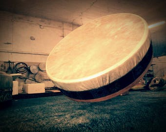 Ancient Drum (With tuning system!) - Enhanced - Bendir or Duff - Mystical Sufi's Drum - Handcrafted - Wooden Soundbox & leather top