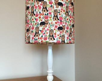 Yorkshire terrier dog print fabric lamp
