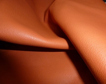 """Leather 12""""x12"""" KING Persimmon Orange Full Grain Cowhide 3-3.5 oz/1.2-1.4mm PeggySueAlso™ E2881-18 Full Hides Available"""