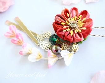 Hair Accessories, Hair Pins, Flower hair pins, vintage style, decorative hair pin, floral hair pin, cosplay accessories, costume accessories
