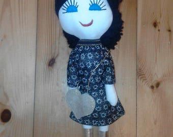 Fabric doll, handmade doll 40 cm custom rag doll, personalized doll, handmade doll, rag doll Individual