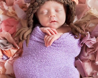 Baby Bonnet, Newbonr Hat, Knit Baby Hat, Knit Photo Prop, Newborn Baby Girl Hat