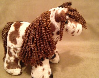 Cuddly Soft Horse with Fancy Mane and Tail
