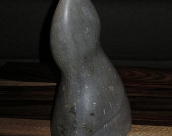 Vintage Genuine Soapstone Contemporary Carving,  Unsigned Soapstone Sculpture