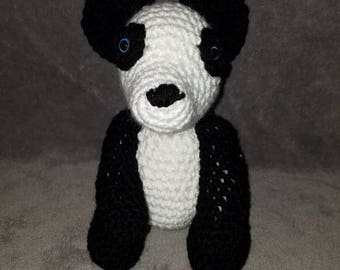 Crochet Panda, amigurami, Stuffed Bear, Gift, Toy