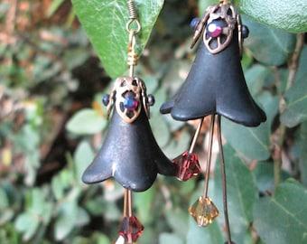 Dark Fae Floral Earrings
