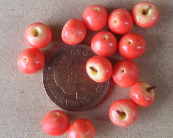 1:12 Scale Set of 10 Red Delicious Apples Dolls House Miniature Food Fruit Accessory