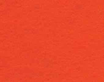 "18"" x 24"" Orange Acrylic Felt FQ - equal to 4 Sheets Felt"