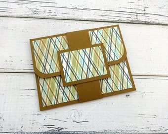 Gift Card Holder, Customizable Gift Card Holder, Gift Card Wallet, Gift Card Envelope, Birthday Gift Card Holder, Brown Gift Card Holder