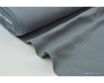 Double gauze cotton Anthracite .x1m