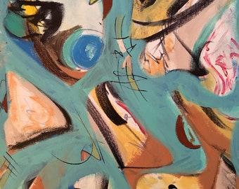 """20""""x16"""" Acrylic on canvas"""