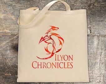 Ilyon Chronicles Red Dragon Canvas Tote Bag - Book Bag
