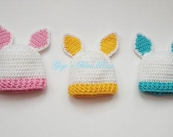 CROCHET PATTERN/Crochet Baby Bunny Beanie Pattern/PDF Pattern
