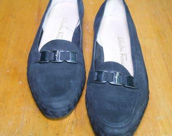 Salvatore Ferragamo Black Loafer 6 1/2 B