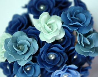 Miniature Roses Polymer Clay Flowers Supplies for Beaded Jewelry 12 pcs., 3 tones