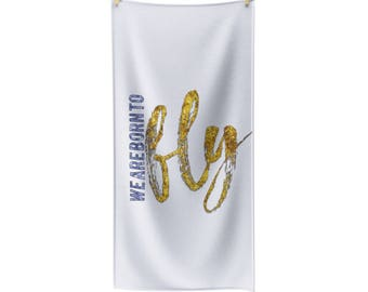 Born To Fly Polycotton Towel