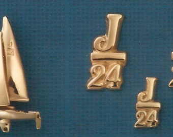 J 24 Sailboat Pendant or  J24 Pin