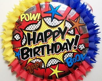 Super Heroes Action Happy Birthday Pinata