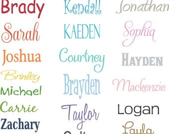 Monogram Name Vinyl Wall Decal PERSONALIZED Vinyl Wall Decal