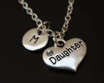 Daughter Necklace, Daughter Jewelry, Daughter Pendant, Daughter Charm, Daughter Gift, Daughter Mother, Gift for Daughter, Daughter gift idea