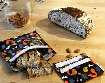 Reusable Organic Sandwich bag - Snack bag