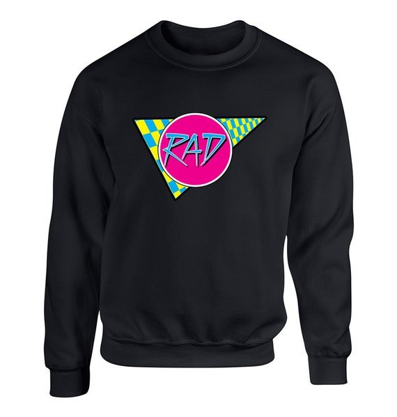 Rad 80s Vintage Retro for Adult Unisex Sweater Crewneck Sweatshirts Warm Sweaters Crew-neck Women Clothing Men Clothing rQfWn6aHK0