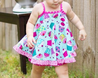 Sewing Pattern PDF - The Pat A Cake Baby Dress