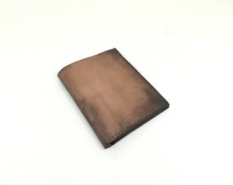 Men's Leather Wallet, Handmade Leather Wallet, Minimal Leather Wallet, Brown Leather Wallet, Distressed leather wallet