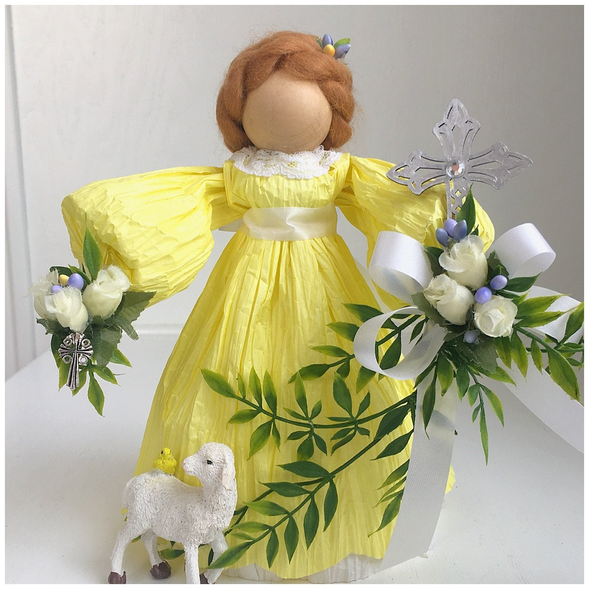 Handmade easter doll unique easter gifts religious church gift gallery photo gallery photo negle Gallery