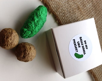 Do my balls smell like pickles? -READY TO SHIP- gag gift- grow your own pickles set- dill and cucumber seeds