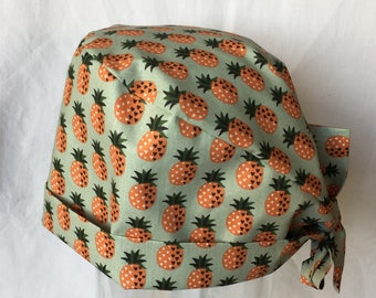 Pineapple design fabric Cap